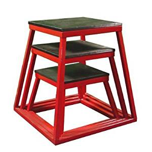 "Red Plyometric Platform Box (12, 18, 24"" Red)"