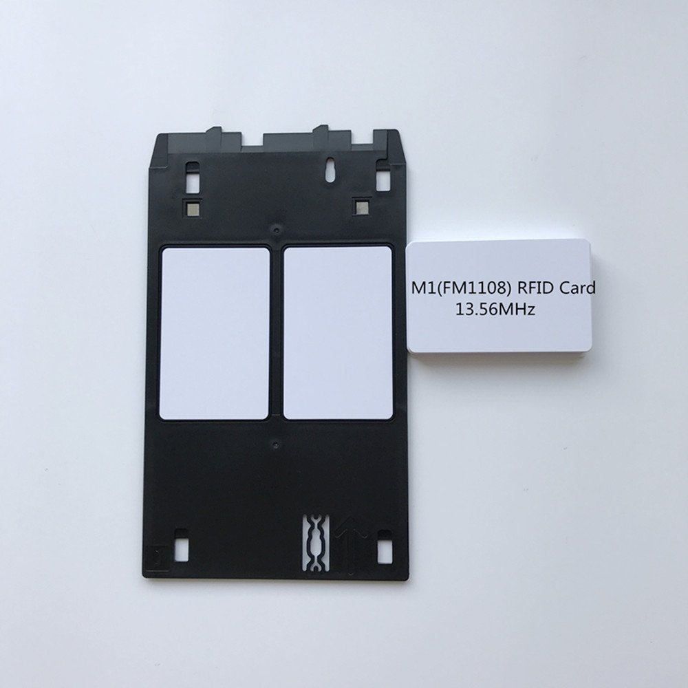 1pcs Inkjet PVC Id Card Tray for Canon J + 10/20/50/100/200 Inkjet PVC Rfid Card 13.56mhz FM1108 S50 Chip Compatible Printable (20)
