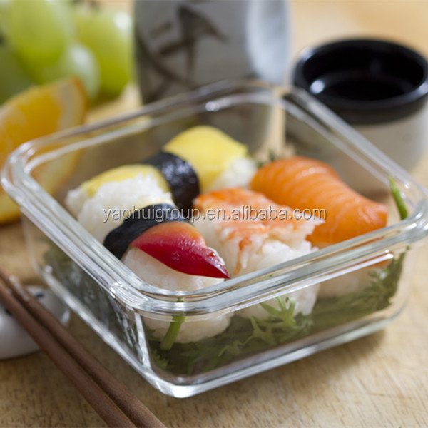 High borosilicate glass food container with PP Locking lid Microwave safe