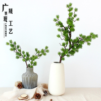 1m Factory Wholesale Plastic Artificial Pine Tree Branches Leaves with Fruit