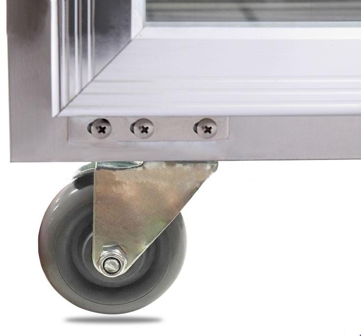 New IS-TG1.5L2 glass door under counter display refrigerator restuarant equipment high quality glass door undercounter freezer