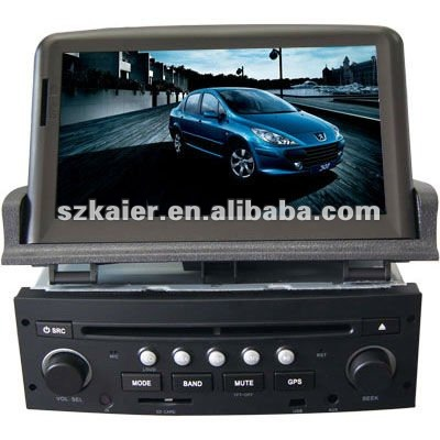 "7"" Car GPS DVD player for Peugeot 307 with 8CD,IPOD,PIP,TV,Arabic and IPHONE menu"