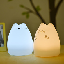 Handle motion sensor light night led,USB Rechargeable & 7-Color Mood Light, Sensitive Tap Control for bedroom