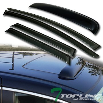 For 2003-2007 Nissan Murano Smoke Window Visors Rain Guard Vent Shade Deflector