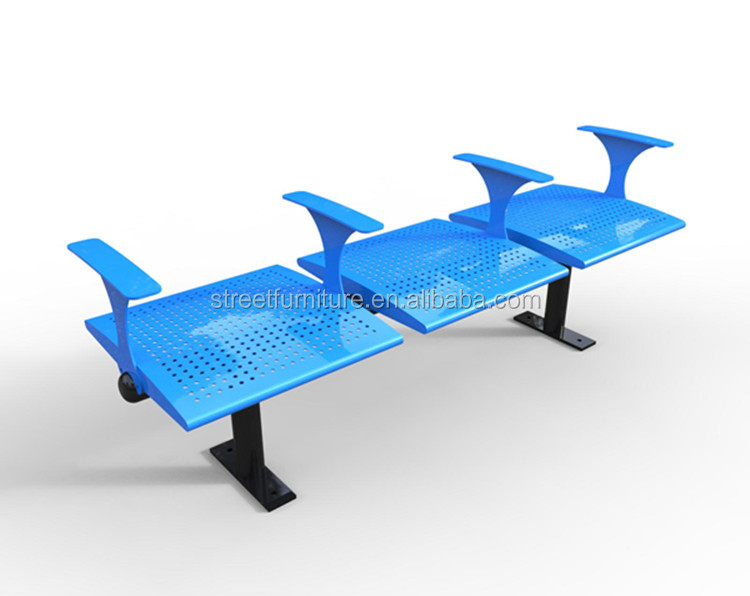 NEW 3 seaters outdoor metal park bus stop bench
