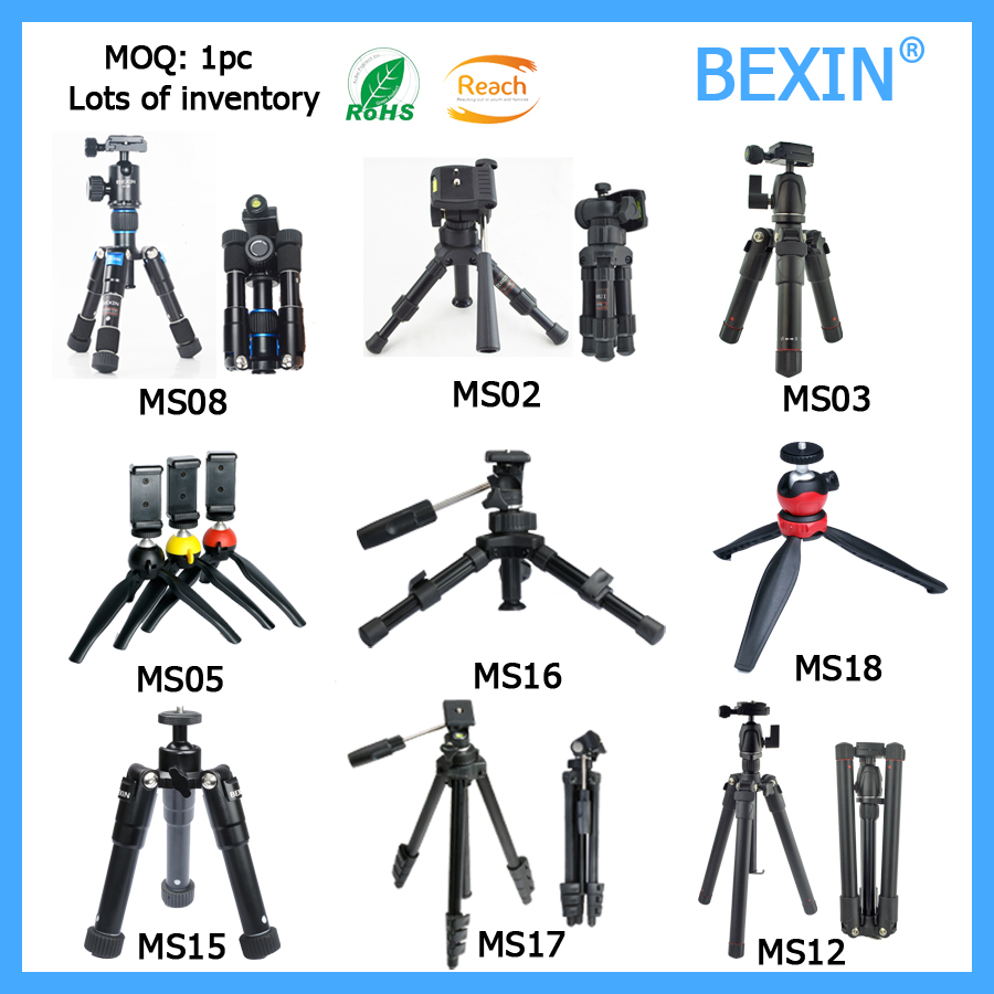 Private lab ligthtweight foldable aluminum desktop camera tripod ball head manufacturers pocket flexible mini table tripod stand