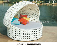 WF251-31 rattan beach bed with canopy in outdoor furniture