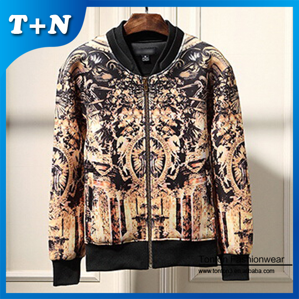 all over sublimation printing men wholesale nylon bomber jackets