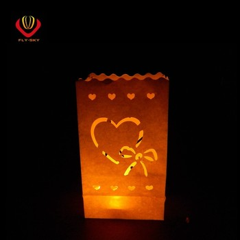 Paper Candle Bag Outdoor Lighted Bags For Wedding Party Decoration