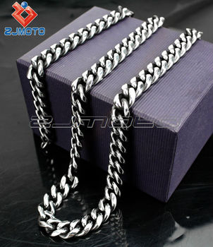classical big necklace chain cool silver fashion necklace jewelry stainless steel