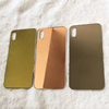 Gold plating glass back cover for iphone XR