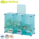 Taiwan manufacturer decoration 6 cube colorful kids pp kindergarten cabinet