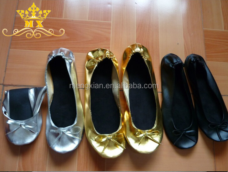 New Wedding Fashion Cheap Girls Flat Silver Ballet Flat Slippers ...