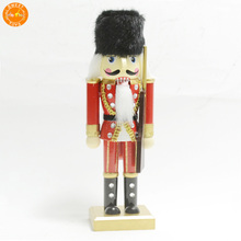 Traditional Wooden Soldier Nutcracker with Sword| Red and Green Festive Christmas Decor Classic Collectible Nutcracker Perfect