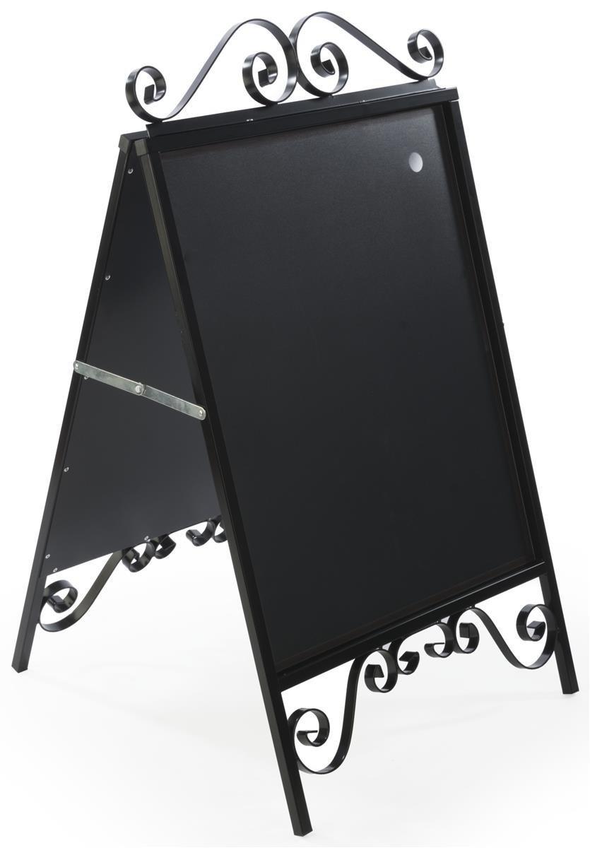 Displays2go A-Frame Sidewalk Sign, Sandwich Board, 22 x 28-Inches, Magnetic Lens Black Steel (OLDSN2228)