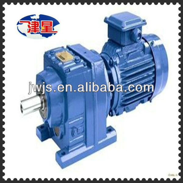 Hardfaced JR series helical gear reducer with the electric motor