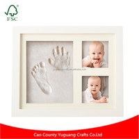 Unique Best Selling Baby Hand & Footprint Memorable Keepsakes Decorations Picture Frame for Boys and Girls