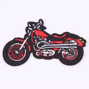 Cartoon Red Motorcycle Clothing Iron On Embroidered Sew Applique Patch Fabric Badge Garment DIY Apparel Accessories P612