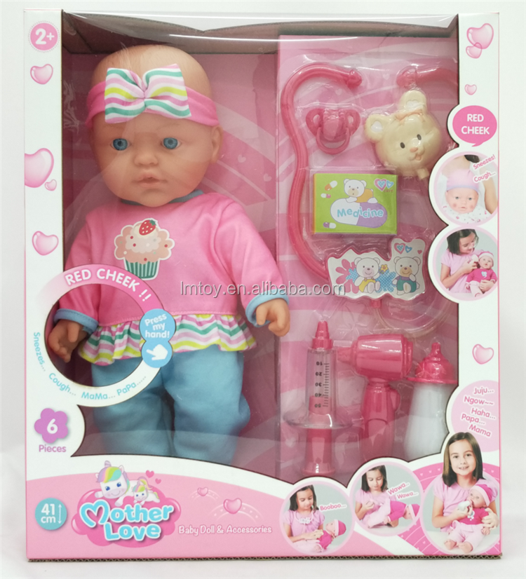 43cm Baby <strong>Doll</strong>, Doctor Set Kids Sick Soft Baby <strong>Doll</strong> Toy with 10 sounds