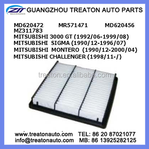 AIR FILTER MD620472 MR571471 MD620456 MZ311783 FOR MITSUBISHI 3000 GT 92-99 SIGMA 90-96 MONTERO 90-20 CHALLENGER 98-
