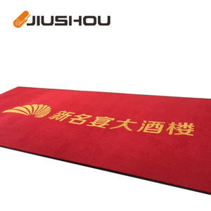 Custom logo strip woven anti-dust blank polypropylene door mat