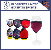 2016 wholesale price and portable neoprene wine glass cooler