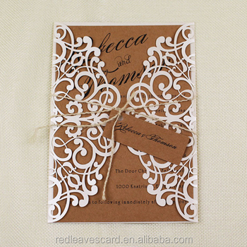 Lowest Price Of Handmade White Wedding Cards English Wedding Cards