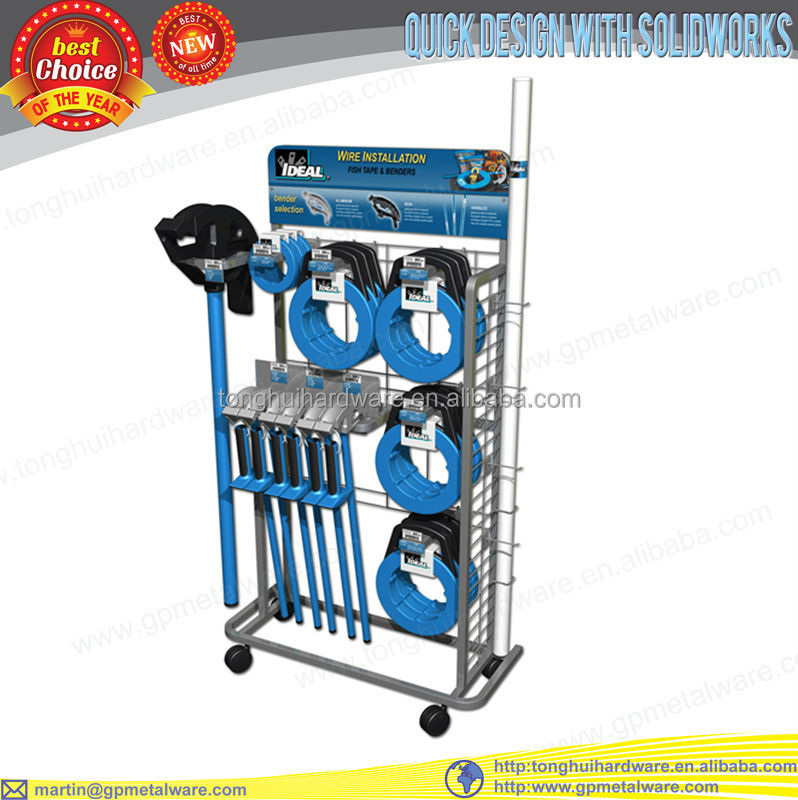 retail shelf store display fish tape display rack
