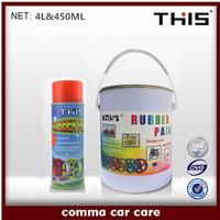 450ml and 4L tear off plastic dip spray paint car