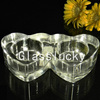 2016 Hot Sale CH14012-1 Double Heart Shaped Bulk Replacement Fancy Wedding Glass Candle Holders Wholesale