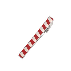 Custom Fashion Gentleman Men's Red and Silver Tie Clip Manufactures Metal Tie Bar