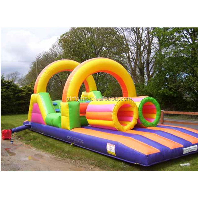 eye catching outdoor colorful inflatable games toy huge inflatable obstacle course for commercial events