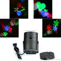 4W AC85-260V RGB Decoration moving sparkling Landscape Laser Projector Wall Lamp led star effect stage lighting