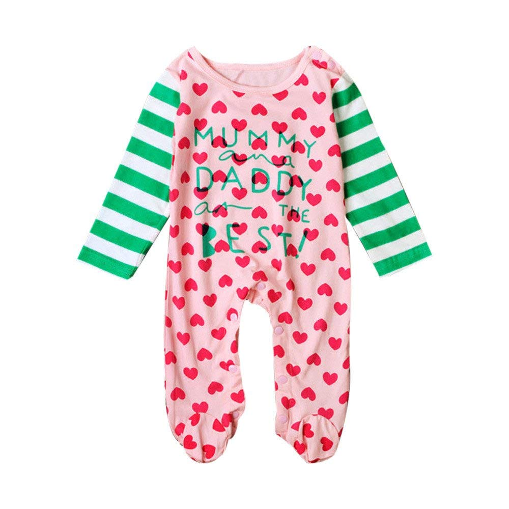 KCPer The Kids Infant Baby Boys Girls Long Sleeve Letter Print Romper Clothes