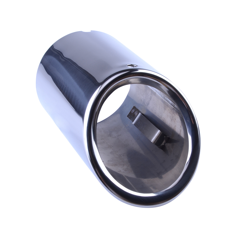 2pcs Auto Car Tail Dual Letout Stainless Steel Exhaust Tip Pipe Tip Muffler Car Styling Modified Fot AudiA1 A3 VW