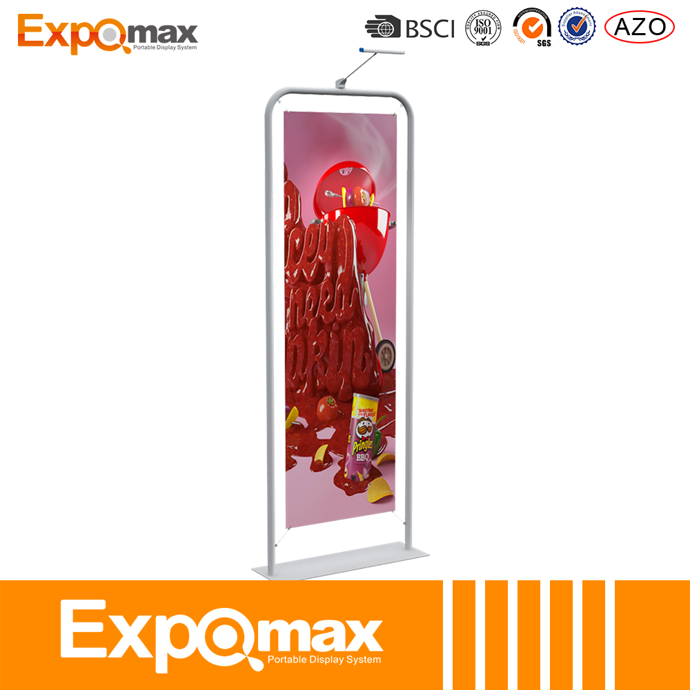 2017 New Curved display banner/cloth vinyl pop up banner stand printed With Good Service