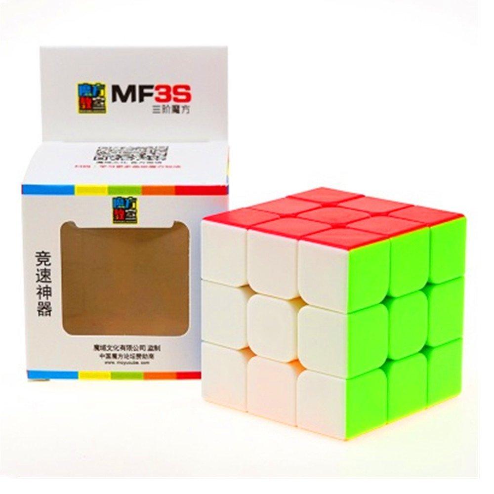 CuberSpeed Moyu MoFang JiaoShi MF3S Stickerless Bright 3x3x3 Magic cube Cubing Classroom MF3S 3X3 stickerless Speed cube