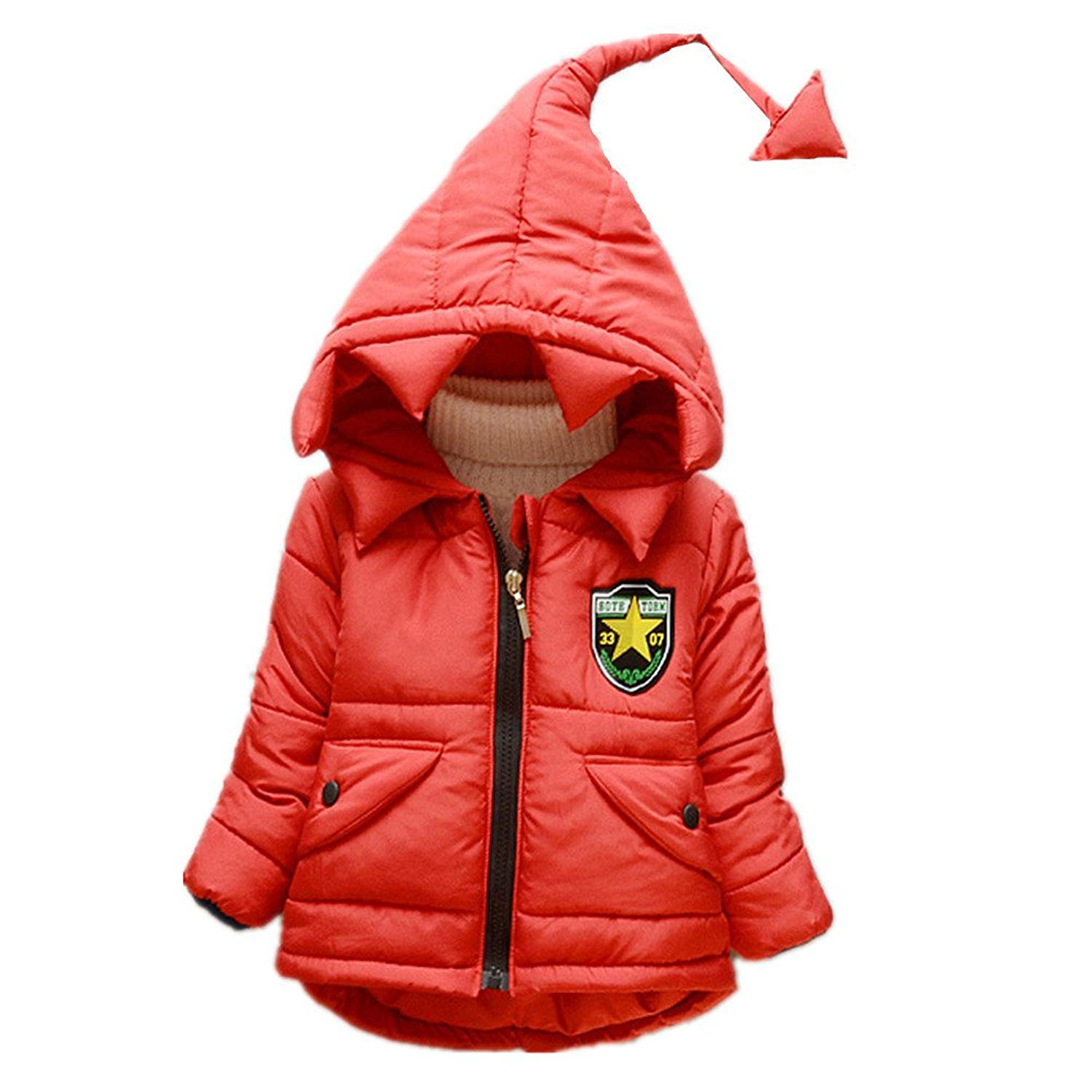 5012525ae Get Quotations · JIEYA Toddler Baby Boys Girls Outerwear Hooded Coat Jacket  Winter Warm Snowsuit