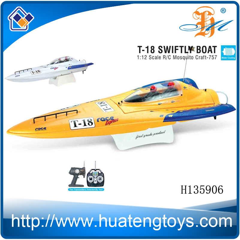 Hot sale new 1/12 scale Electric High Speed Racing nqd RC Boat with light 750 type motor
