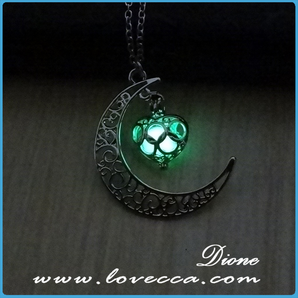 Factory Wholesale Glowing necklace New style moon start pendant necklace,luminous necklace
