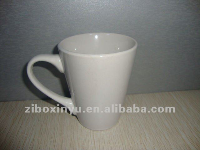 12oz Cute white Ceramic coffee mug for promotion gift