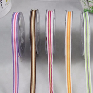Polyester Stripe Grosgrain Ribbon