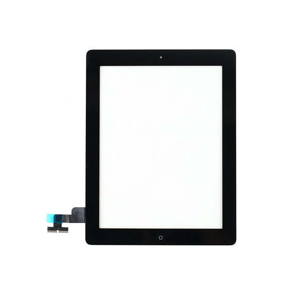 חזית זכוכית פנל עבור iPad 2 A1395 A1396 A1397 digitizer + לחצן בית + IC הרכבה