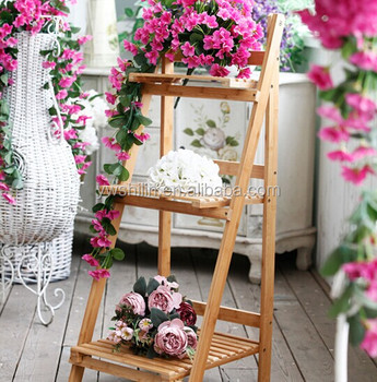 Colored Wooden Flower Stands For Living