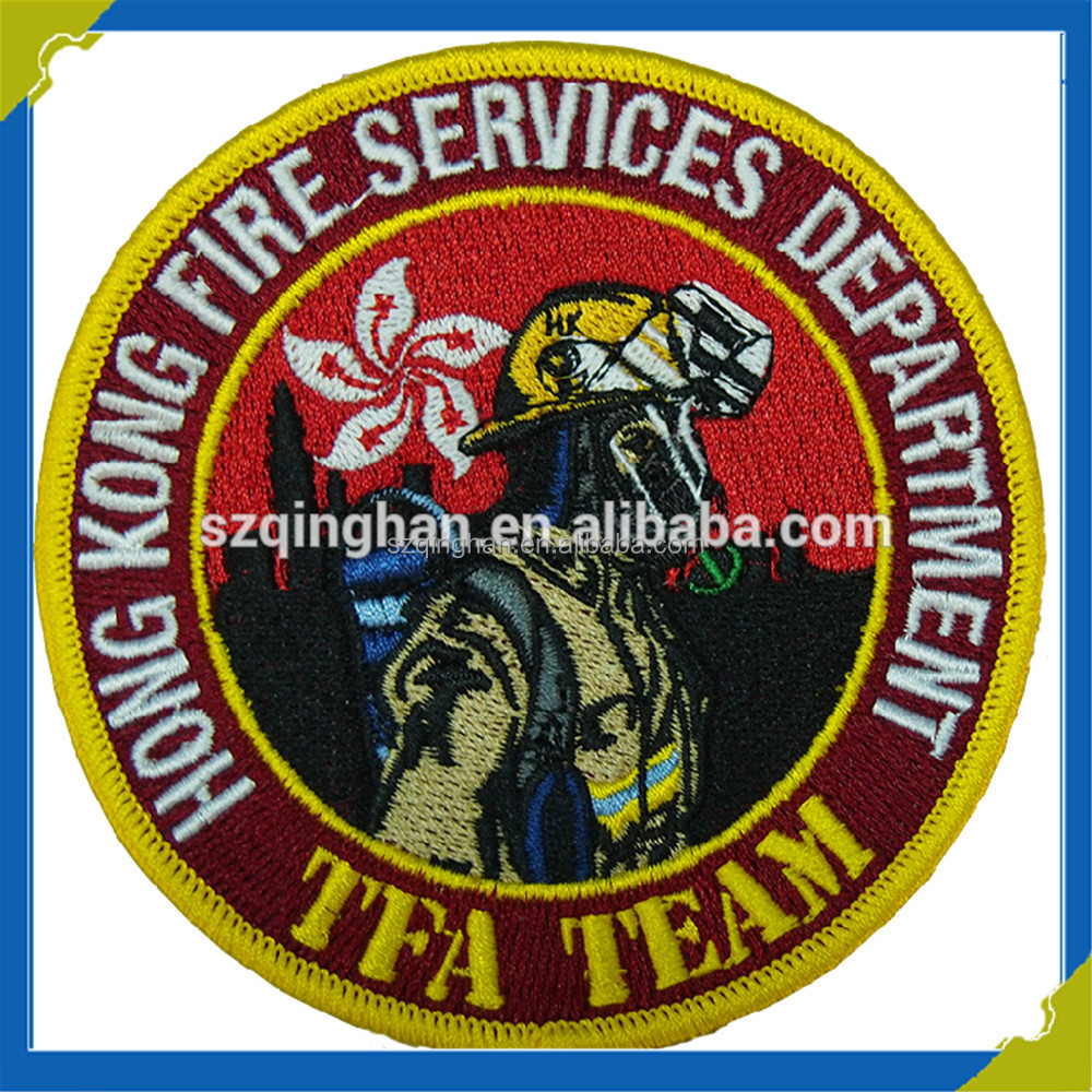 Clothing Garment Accessory Manufacture Professional Embroidery Badge with Overlock