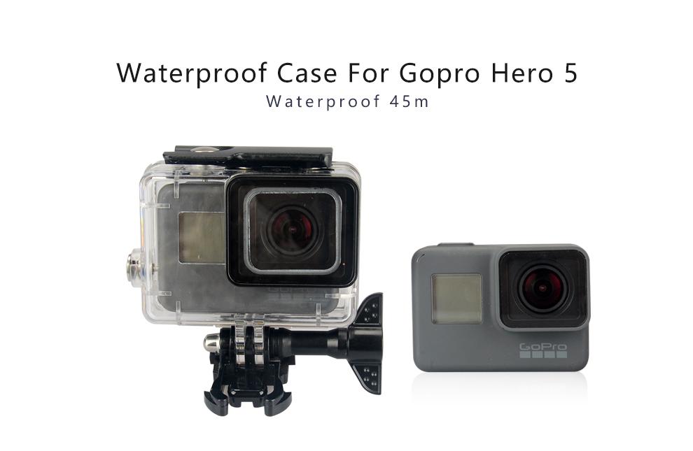Vỏ bảo vệ chống thấm KingMa Case cho GoPro Hero 5 Camera hành động màu đen với khung phát hành nhanh & Thumbscrew