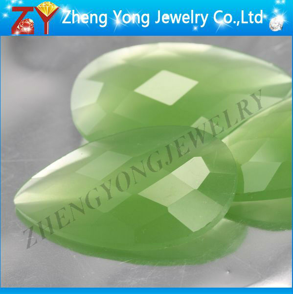 Gems jewels/Light green glass stone/Low price glass bead