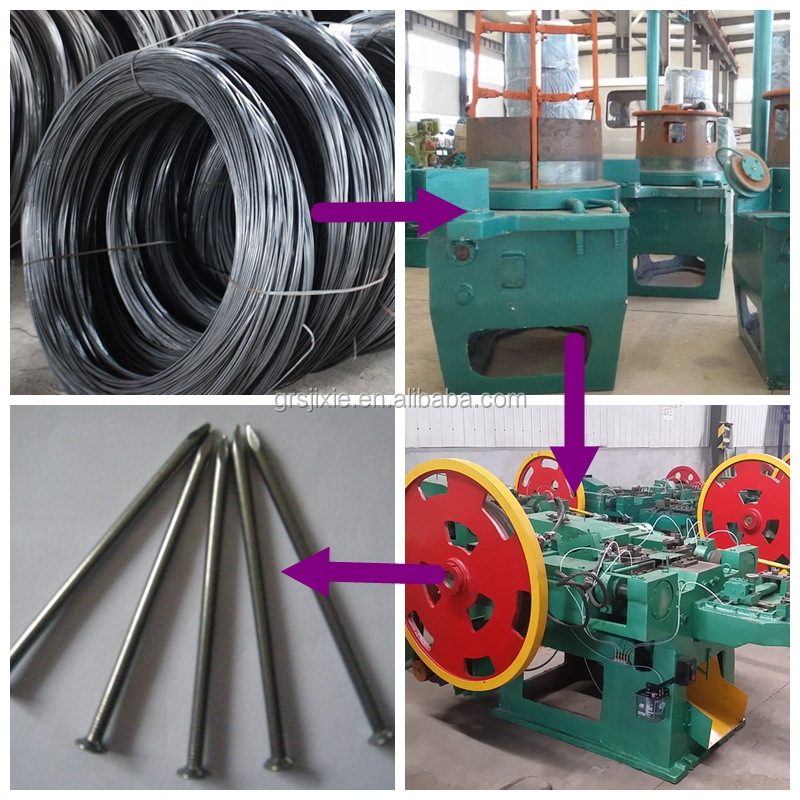 Iron Nail Machine For Common Nails Production Line Concrete Making