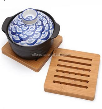 Cheap Wholesale Custom Bamboo Kitchen Table Mat Wooden Cup Coaster Mat - Buy Wooden Cup Mat ...