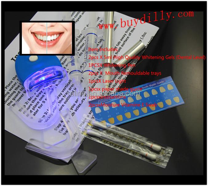 Gel Clareador De Dente Dentes Branqueamento Kit Casa Antecedencia